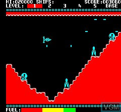 In-game screen of the game Krillys on Tangerine Computer Systems Oric