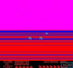 In-game screen of the game Loki on Tangerine Computer Systems Oric