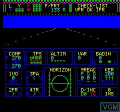 In-game screen of the game Mission Delta on Tangerine Computer Systems Oric