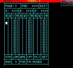 In-game screen of the game Multigraf Programme de D.A.O. on Tangerine Computer Systems Oric
