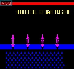 In-game screen of the game Musique Dance on Tangerine Computer Systems Oric