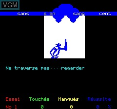 In-game screen of the game Obelix on Tangerine Computer Systems Oric