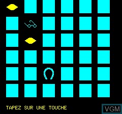 In-game screen of the game Memoric Mag Type-in 1 on Tangerine Computer Systems Oric