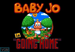Title screen of the game Baby Jo - The Super Hero on NEC PC Engine CD