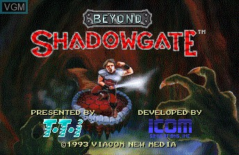 Title screen of the game Beyond Shadowgate on NEC PC Engine CD