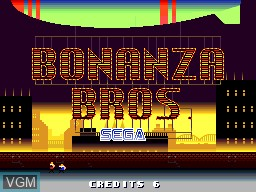 Title screen of the game Bonanza Bros. on NEC PC Engine CD