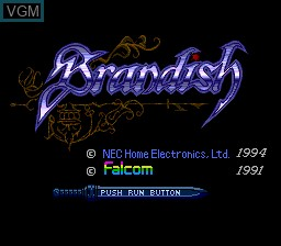 Title screen of the game Brandish on NEC PC Engine CD