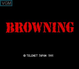 Title screen of the game Browning on NEC PC Engine CD