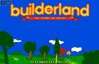 Title screen of the game Builderland on NEC PC Engine CD