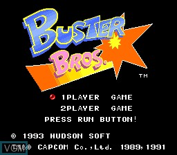 Title screen of the game Buster Bros on NEC PC Engine CD
