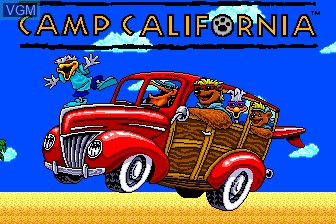 Title screen of the game Camp California on NEC PC Engine CD
