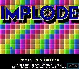 Title screen of the game Implode on NEC PC Engine CD