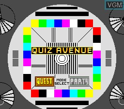 Title screen of the game Quiz Avenue on NEC PC Engine CD