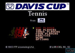 Title screen of the game Davis Cup Tennis, The on NEC PC Engine CD