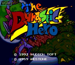 Title screen of the game Dynastic Hero, The on NEC PC Engine CD