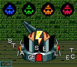 Menu screen of the game CD Denjin Rockabilly Tengoku on NEC PC Engine CD