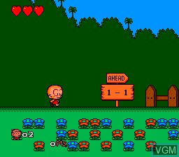 Menu screen of the game Bonk III - Bonk's Big Adventure on NEC PC Engine CD