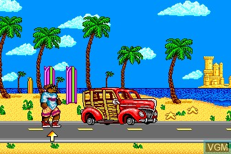 Menu screen of the game Camp California on NEC PC Engine CD