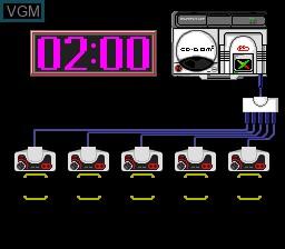 Menu screen of the game Dekoboko Densetsu - Hashire Wagamanma on NEC PC Engine CD