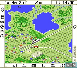 In-game screen of the game A. III on NEC PC Engine CD