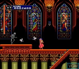 In-game screen of the game Akumajou Dracula X - Chi No Rondo on NEC PC Engine CD