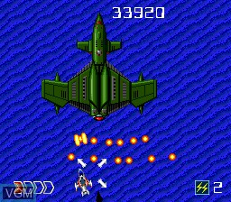 In-game screen of the game Avenger on NEC PC Engine CD