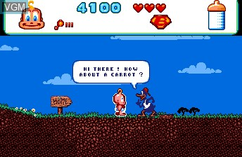In-game screen of the game Baby Jo - The Super Hero on NEC PC Engine CD