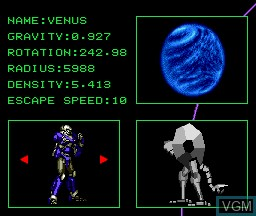 In-game screen of the game Black Hole Assault on NEC PC Engine CD