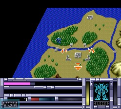 In-game screen of the game Blood Gear on NEC PC Engine CD
