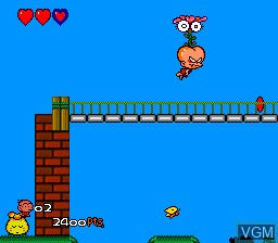 In-game screen of the game Bonk III - Bonk's Big Adventure on NEC PC Engine CD