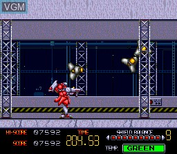 In-game screen of the game Browning on NEC PC Engine CD