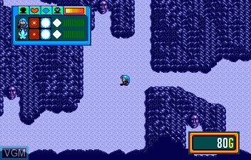 In-game screen of the game Burai II on NEC PC Engine CD