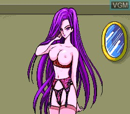 In-game screen of the game CD Pashisuro Bishoujo Gambler on NEC PC Engine CD