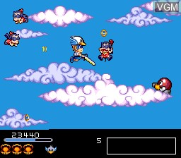In-game screen of the game Chiki Chiki Boys on NEC PC Engine CD
