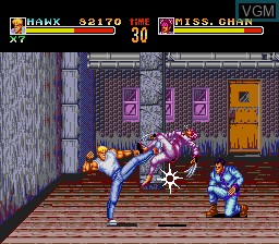 In-game screen of the game Riot Zone on NEC PC Engine CD
