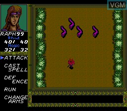 In-game screen of the game Death Bringer - The Knight of Darkness on NEC PC Engine CD