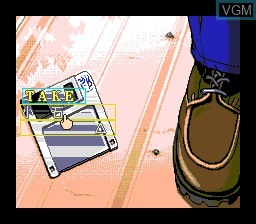 In-game screen of the game Dennou Tenshi - Digital Angel on NEC PC Engine CD
