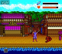 In-game screen of the game Iga Ninden Gaou on NEC PC Engine CD