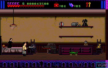 In-game screen of the game Addams Familly, The on NEC PC Engine CD