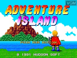 Title screen of the game Adventure Island on NEC PC Engine