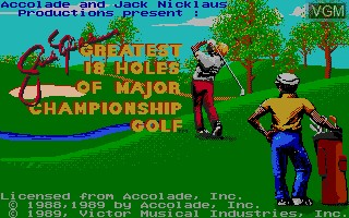 Title screen of the game Jack Nicklaus' Greatest 18 Holes of Major Champ. Golf on NEC PC Engine