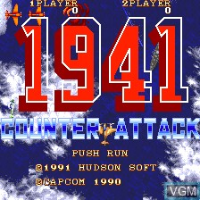Title screen of the game 1941 - Counter Attack on NEC PC Engine