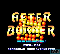 Title screen of the game After Burner II on NEC PC Engine
