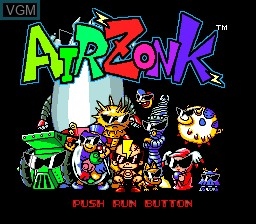 Title screen of the game Air Zonk on NEC PC Engine