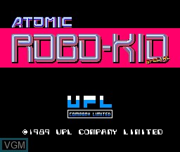 Title screen of the game Atomic Robo-Kid Special on NEC PC Engine