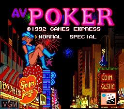 Title screen of the game Av Poker on NEC PC Engine
