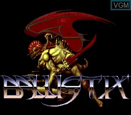 Title screen of the game Ballistix on NEC PC Engine