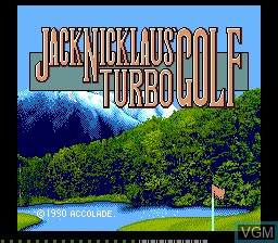 Title screen of the game Jack Nicklaus' Turbo Golf on NEC PC Engine