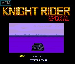 Title screen of the game Knight Rider Special on NEC PC Engine
