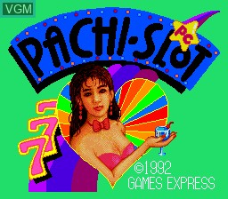 Title screen of the game PC Pachi-Slot 777 on NEC PC Engine
